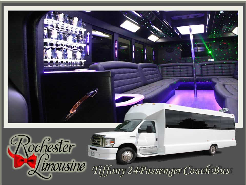 Rochester-limos-Tiffany-24-passenger-party-bus