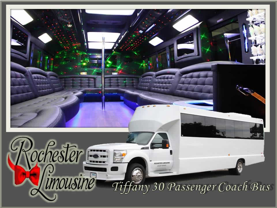 Rochester-limos-Tiffany-30-passenger-party-bus